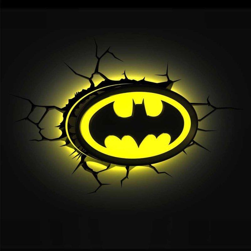 Luminária Parede 3d Símbolo Logo Batman Dc Comics R 25990 Em