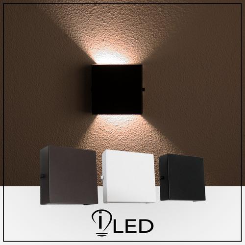 luminária parede arandela led g9 7w externa 2 focos