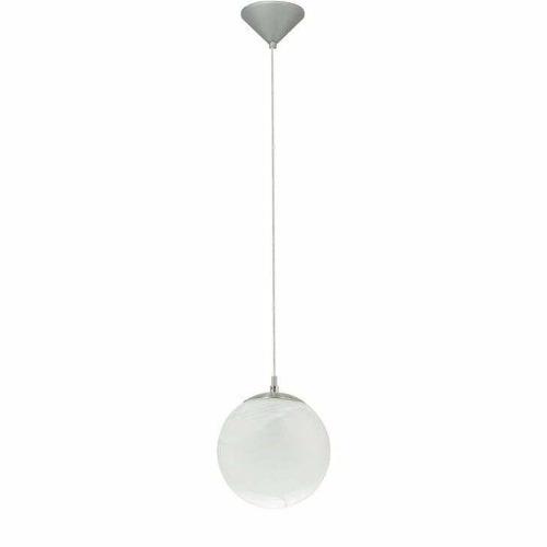 luminária pendente bola de vidro jateado