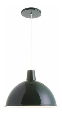 luminária pendente color retrô verde média 38cm