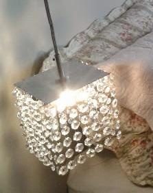 luminária pendente com cristais legítimos - preço de fábrica