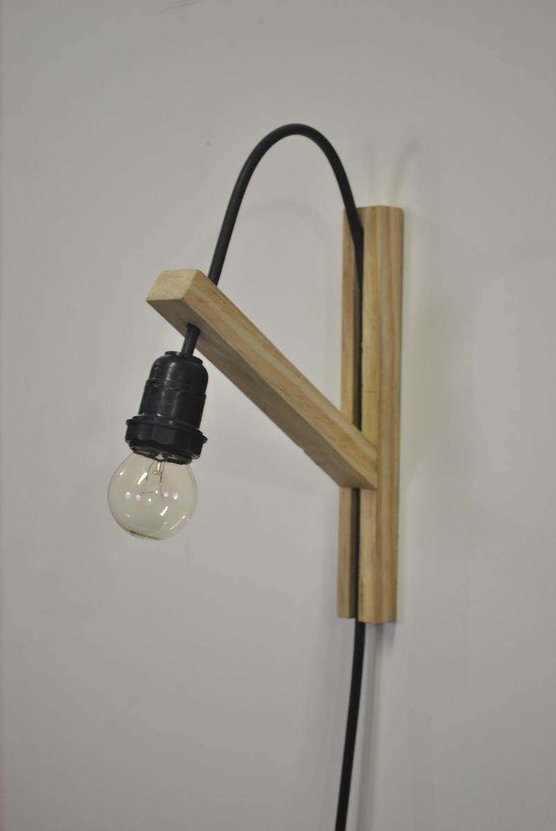 Luminária Pendente De Parede Em Madeira 24x17cm R$ 59,90 em Mercado Livre