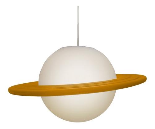 luminária pendente lustre planeta saturno de teto bivolt