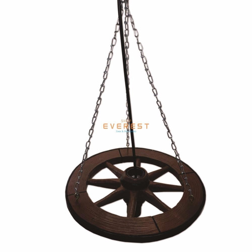 luminária pendente roda de carruagem carroça fazenda rústico