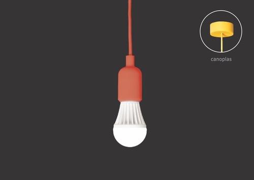 luminária pendente silicone vintage retro completa blindada