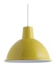 luminaria pendente td820 taschibra amarelo barbearia balcao