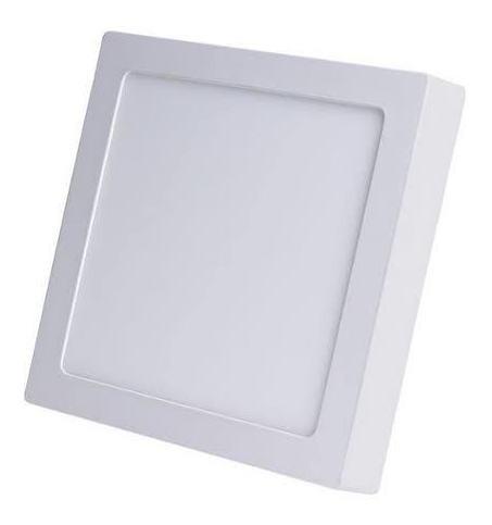 luminária plafon 18w quad 6500k (luz fria)  (3x22/5x22/5cm)