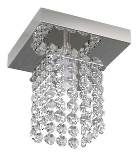 luminária plafon de cristal 12cm lavabo corredor hall 8121