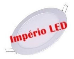 luminaria plafon embutido led redondo 24w