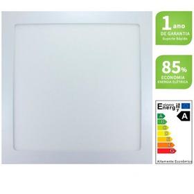 Luminaria Plafon Led 25w Embutir 30x30 Quadrado Branco Frio
