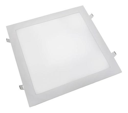 luminária plafon led 40x40 36w embutir classe a
