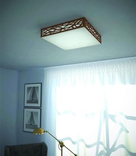 luminária plafon madeira copacabana 40cm - 36.18