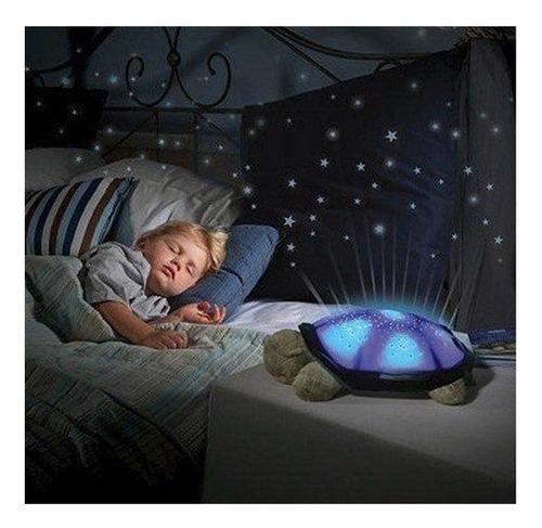 luminaria projetor de estrelas som e luz led tartaruga bebe