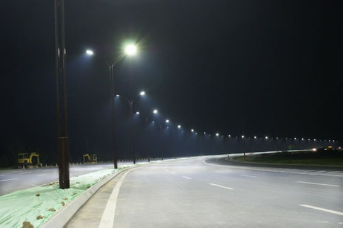 luminária pública de led 50w - super potente - garantia