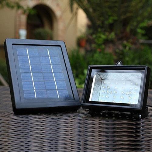 luminária / refletor solar com 30 ultra leds - branco frio