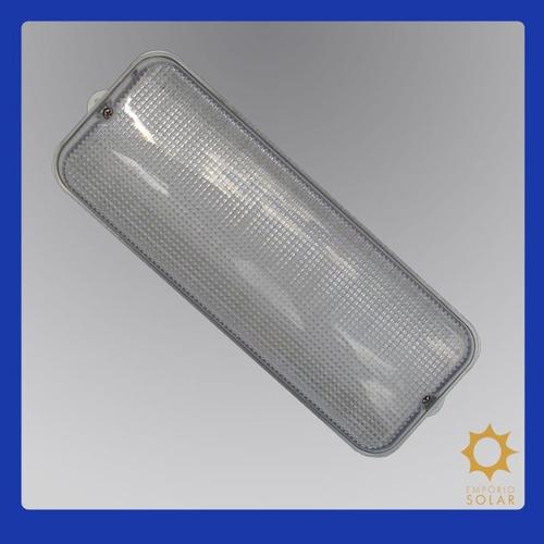 luminária retangular cristal com leds 12v super-econômica.