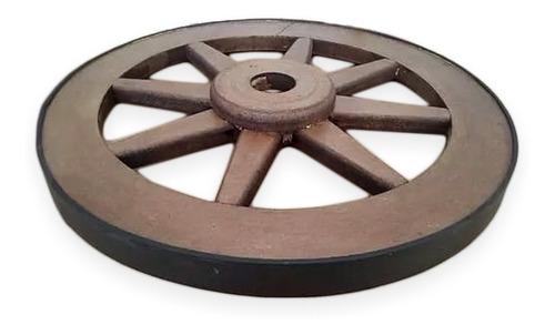 luminaria roda de carroça rústico 35 cm  lustre