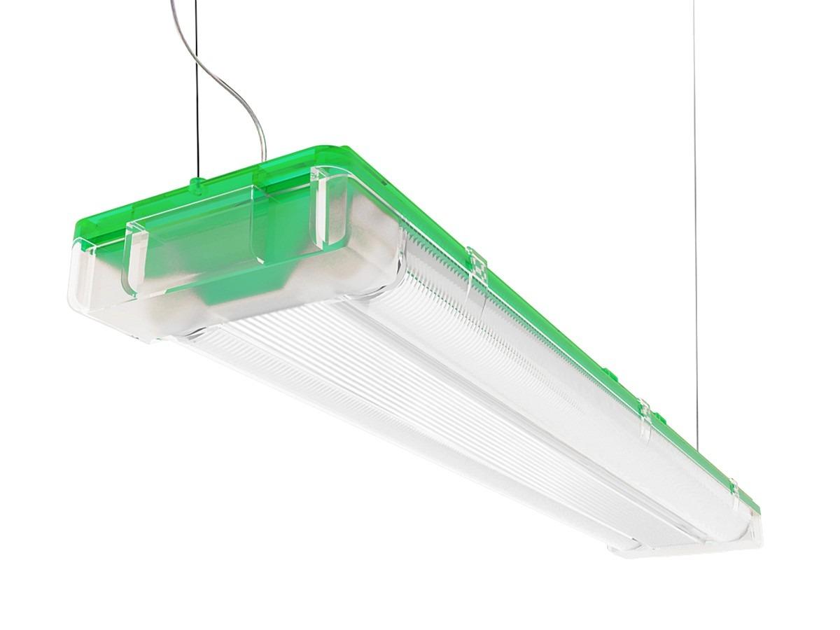 Lumin ria sampa l mpada fluorescente tubular t5 frete - Luminaria fluorescente estanca ...