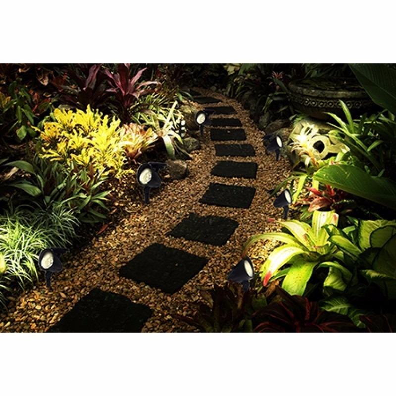 Lumin 225 Ria Solar Jardim Spot C 3 Lampadas Leds Kit 2