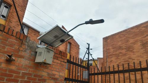 luminaria solar led 20w todo en uno retilap p/ poste o muro