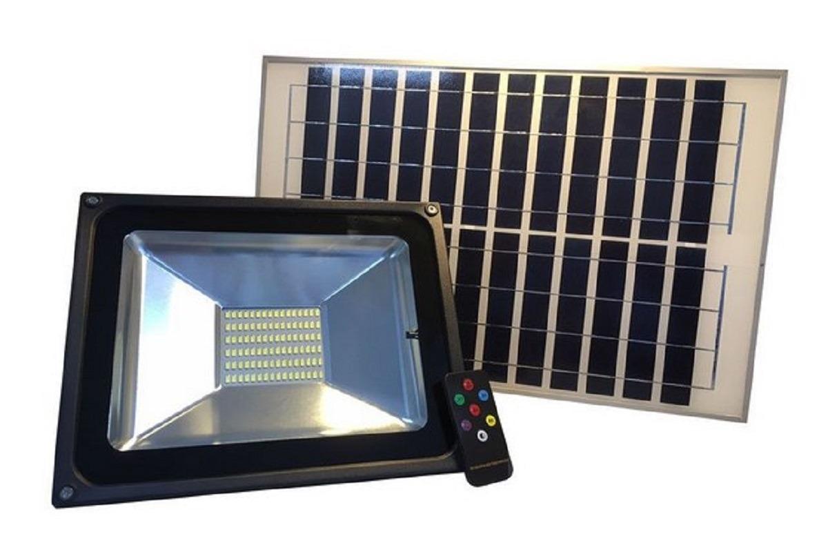 Lumin Ria Solar Led Fotovoltaica 50w R 337 25 Em Mercado Livre