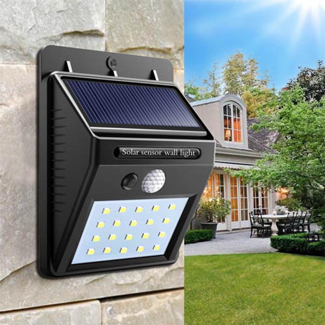 Lumin 225 Ria Solar Parede 20 Led Jardim Piscina Sensor