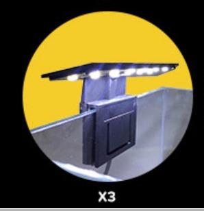 luminária soma x3 5w modelo black com led na cor branco 110v