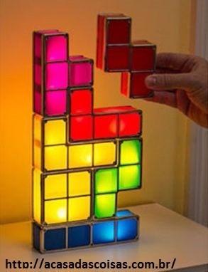 luminária tetris led - monte como quiser !!
