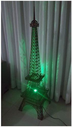 luminária torre eiffel em mdf - 1,80 metros altura