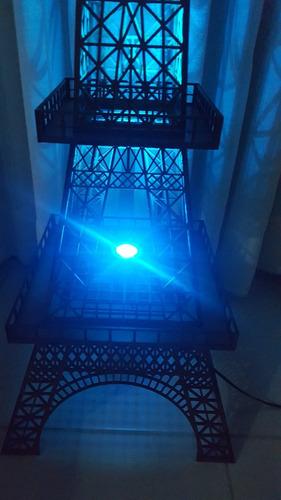 luminária torre eiffel mdf 1,25 metros altura