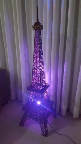 luminária torre eiffel mdf 1,25 metros - completa