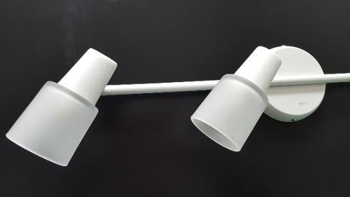 luminária trilho p/ sala cozinha quarto banheiro 4 luzes g9