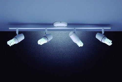 Luminária Trilho P Sala Cozinha Sala Quarto Banheiro 4 Luz R$ 299,99 em Mercado Livre