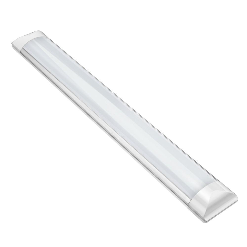 Luminaria Tubular Led Sobrepor Slim 40w Branco Frio 120cm R 38 90
