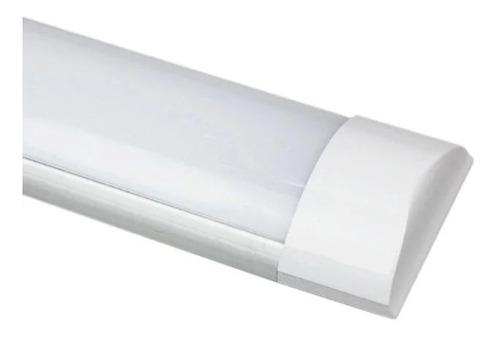 luminária tubular sobrepor led linear 36w 120cm branco frio