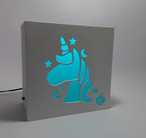 luminária unicórnio para meninas c/controle remoto exclusivo