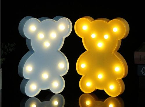 luminária urso usinho com led - decoração festa so amarelo