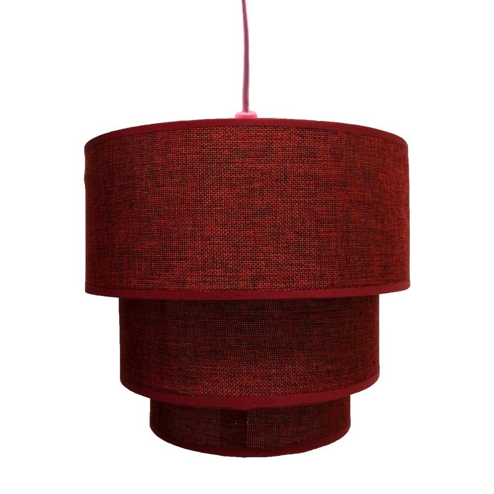 Lumin Ria Vermelha Redonda Com Suporte Pendente Rosa R 96 90 Em