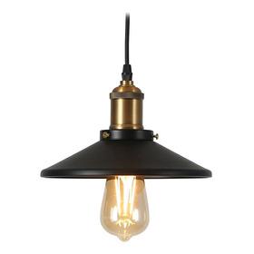 Luminaria Vintage Colgante Negra Plato Para 1 Lampara E27