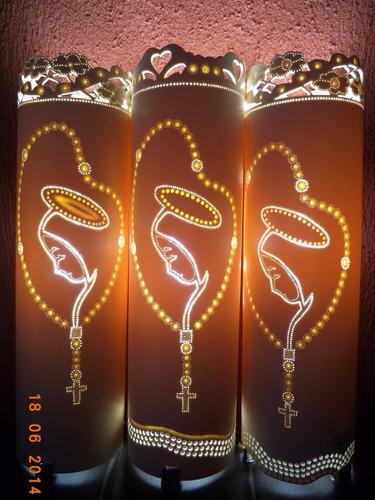 luminárias artesanais em pvc - personalizadas