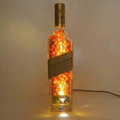 luminárias com garrafas