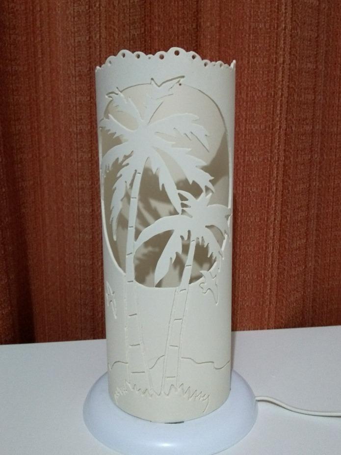 Luminarias Em Cano De Pvc Com Desenhos De Coqueiros R 120 00 Em