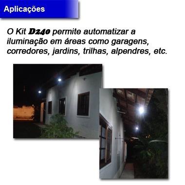 luminárias led e fotocélula 220 vac - kit d240 23 unidades