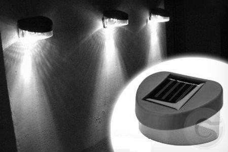 luminárias solar de led - jardim - passarelas - muro