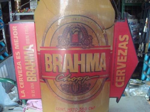 luminario decoraçao antigo da cerveja brahma raro 60cm 65cm