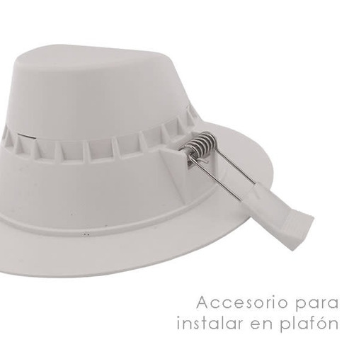 luminario downlight led empotrar luz calida blanco 10w illux