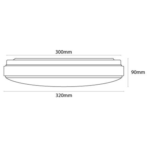 luminario lampara sobreponer techo led tl-6018.b30 illux