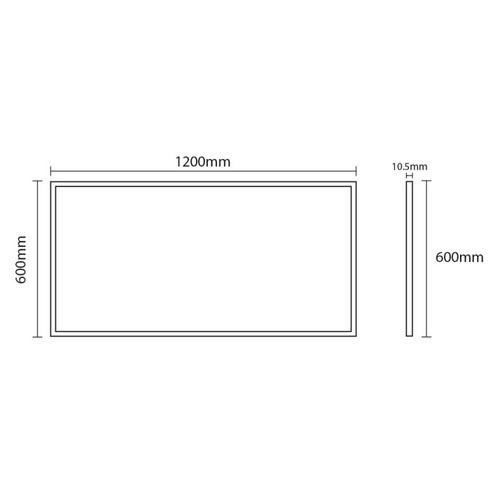 luminario luz led panel tipo plano de 64w illux tl-1064.a40