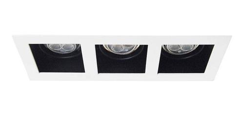 luminario triple base empotrar en techo th-4232.n illux