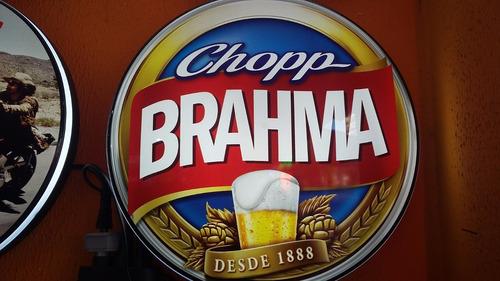 luminoso brahma chopp n neon led bar buteco café  vintage
